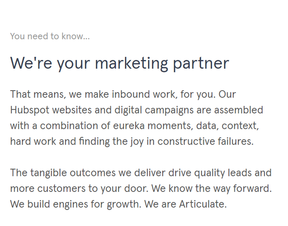 new website launch - marketing partner