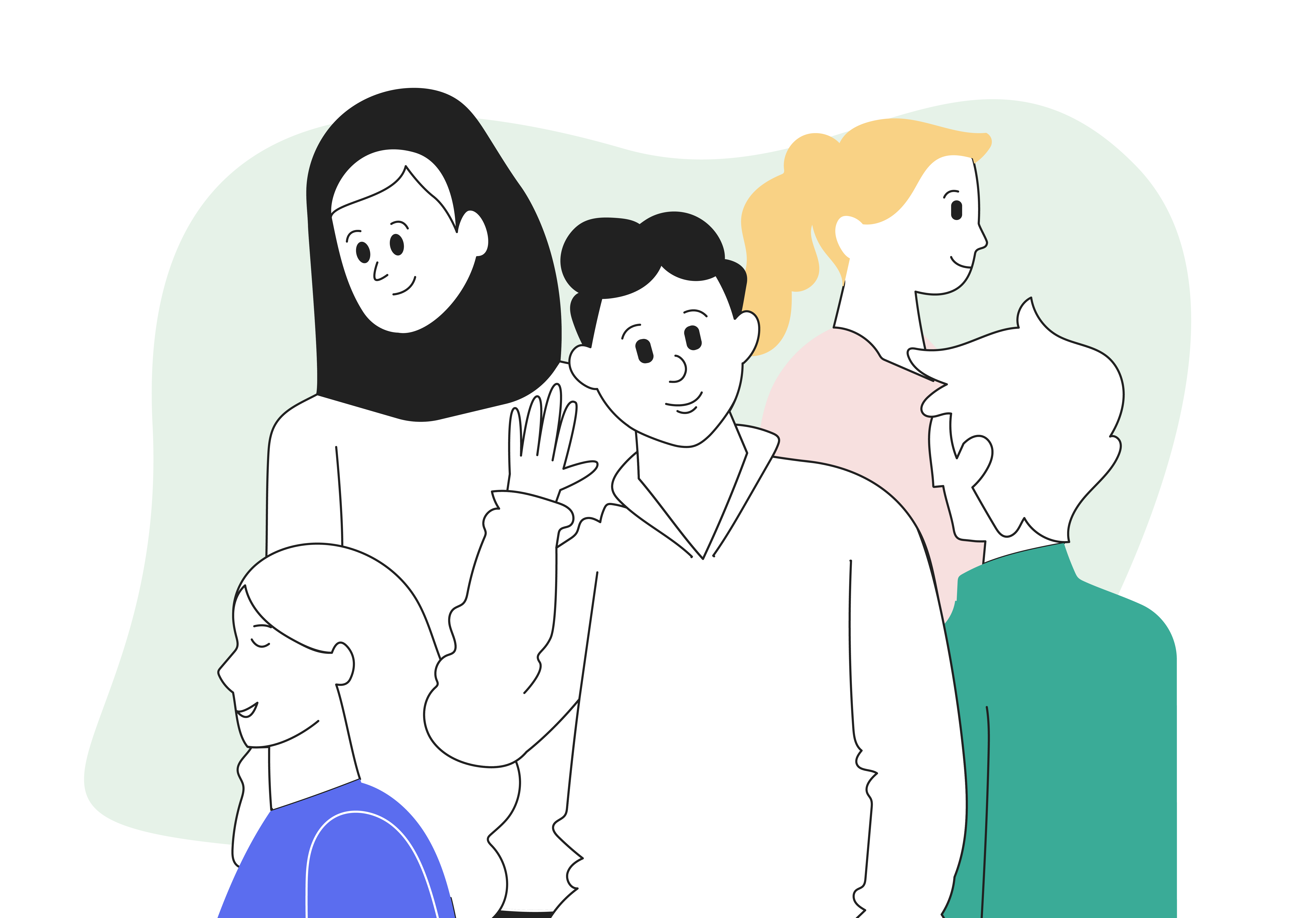 Strategy foundations: how to create an ideal client profile and personas for targeted marketing - image shows group of people looking in different directions