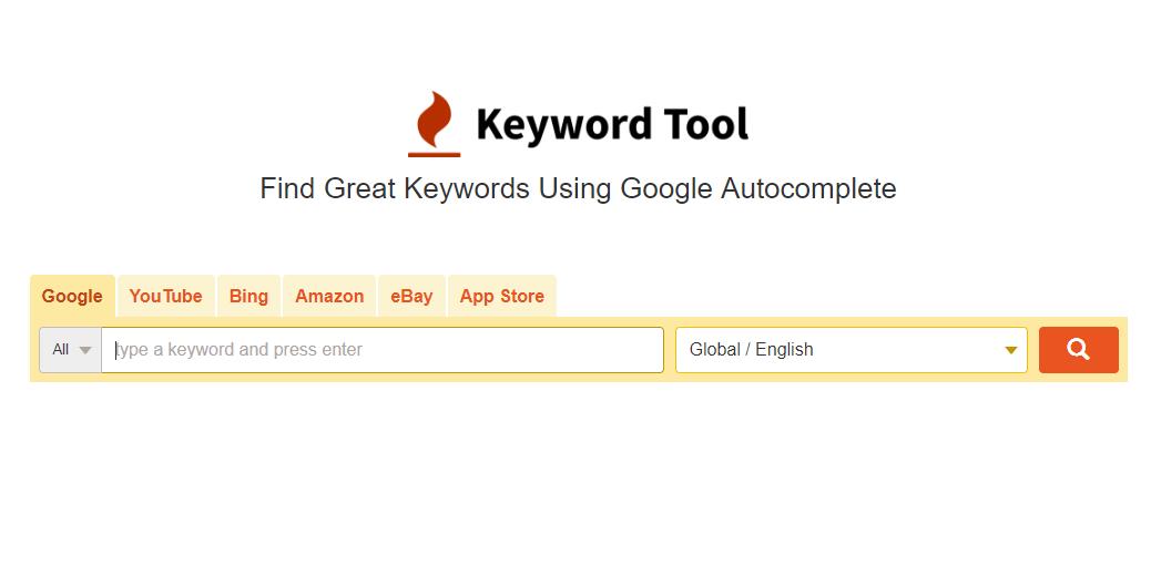 SEO keyword strategy - keyword tool