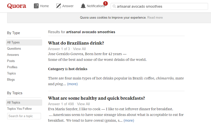 SEO keyword strategy - Quora