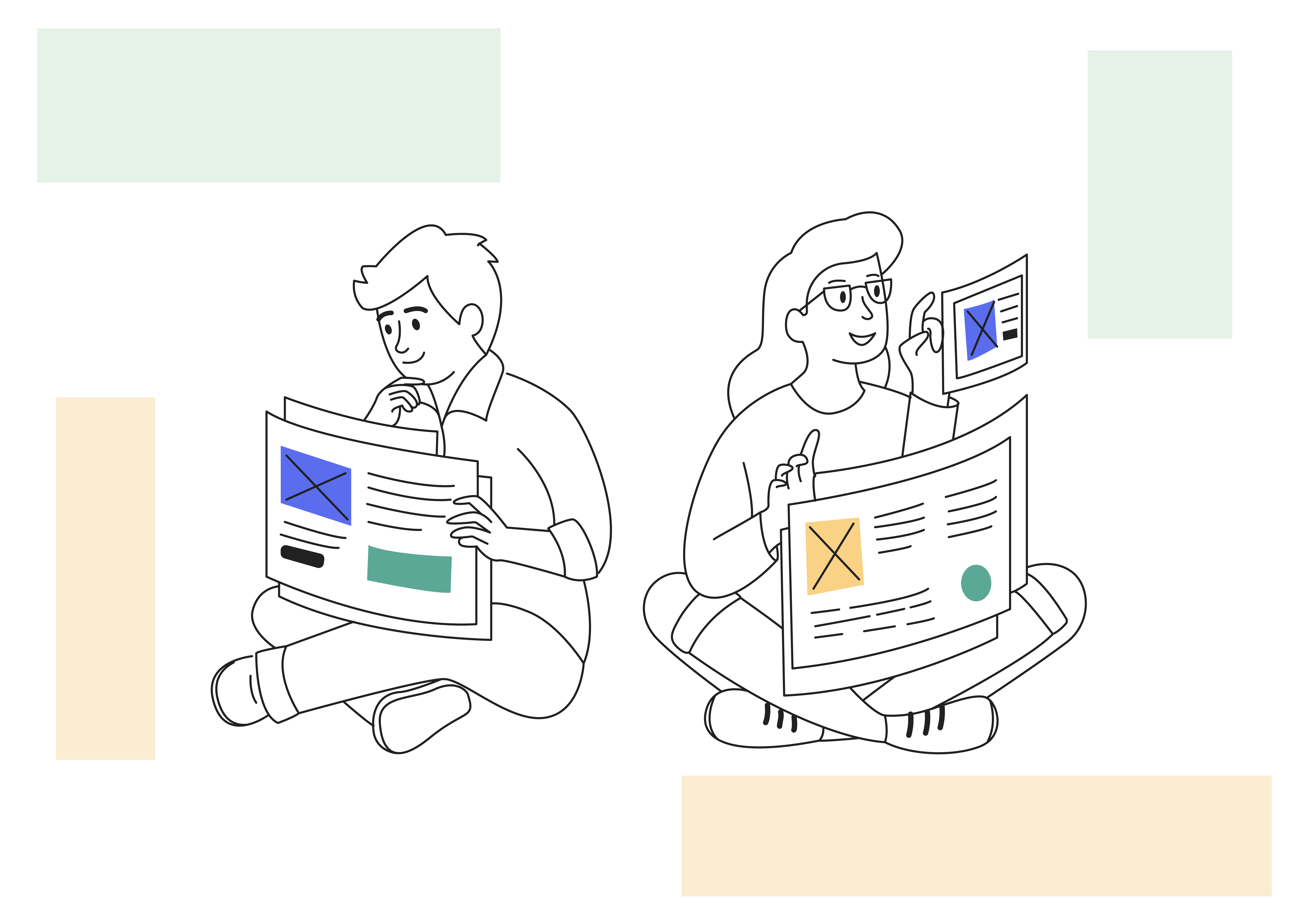 Why you should choose HubSpot over WordPress - image of woman and man comparing websites