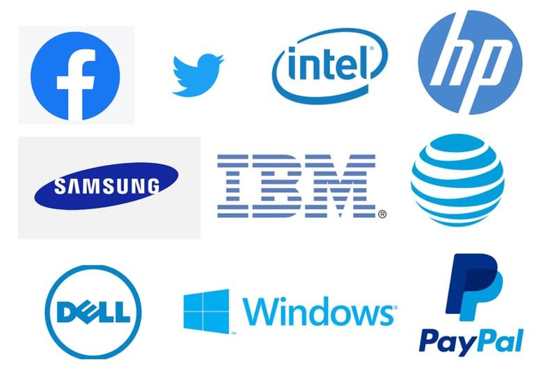 tech company logos 3 - blue logos