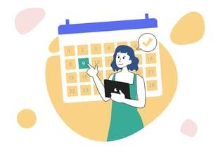 Articulate marketing - a marketer planning their content strategy using a calendar
