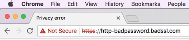 not secure SSL