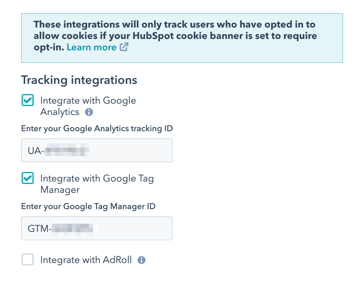 Google tag manager in hubspot